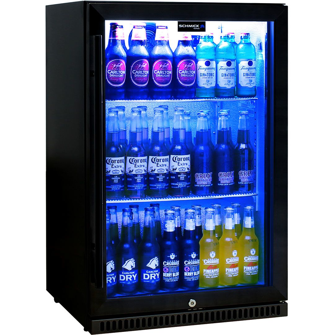 Schmick Black Bar Fridge Tropical Rated